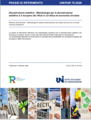 UNI/PdR 75:2020   Economia circolare recupero rifiuti