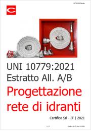 UNI 10779:2021   Progettazione rete di idranti