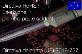 Direttiva delegata (UE) 2018/737 | Modifica All. III Direttiva RoHS II