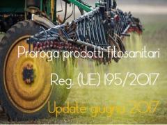 Proroga prodotti fitosanitari regolamento (UE) n. 2017/195