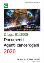 D.Lgs. 81/2008: Documenti sugli Agenti cancerogeni 2020