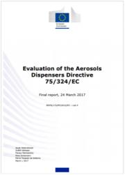 Evaluation of the Aerosols Dispensers Directive 75/324/EC