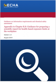 ECHA | Guidance exposure limits at the workplace