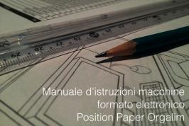 Manuale d'istruzioni macchine: position paper Orgalime formato elettronico