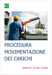 Procedura per la movimentazione dei carichi: operazioni di imbracatura, sollevamento e spostamento
