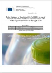 Guidance on Regulation (EU) No 10/2011 on plastic materials MOCA