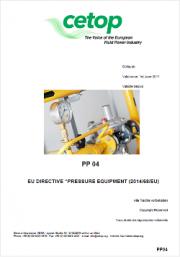 Pressure equipment paper PED directive 2014/68/EU