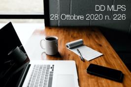 DD MLPS del 28 Ottobre 2020 n. 226