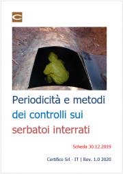 Periodicità e metodi dei controlli sui serbatoi interrati