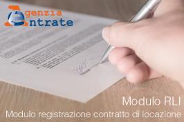 Modulo registrazione contratto di locazione | RLI