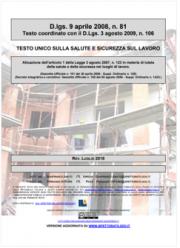 Testo Unico Sicurezza D. Lgs. 81/2008 - 07.2018