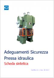 Report Adeguamenti Pressa idraulica TUS Allegato V