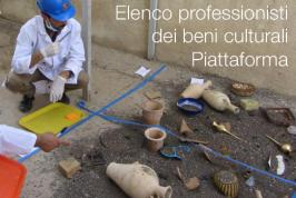 Elenco professionisti dei beni culturali | Piattaforma
