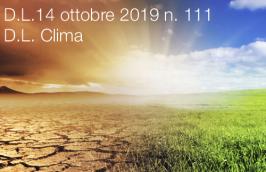 Decreto - Legge 14 ottobre 2019 n. 111 | DL Clima