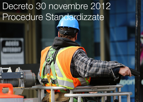 Decreto 30 novembre 2012 Procedure Standardizzate
