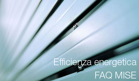 Efficienza energetica FAQ MISE