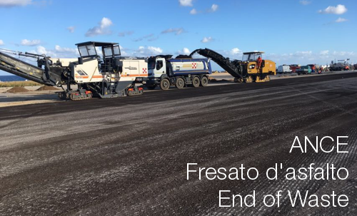 Fresato asfalto end of waste ANCE