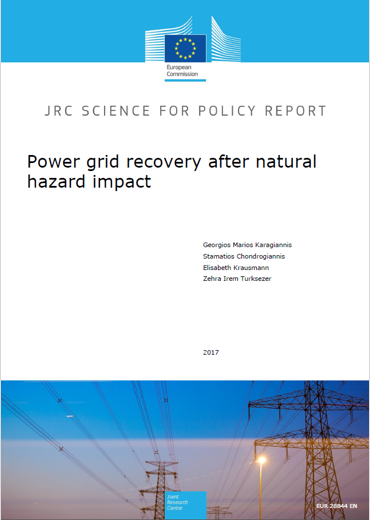 Power grid recovery natural hazard impact