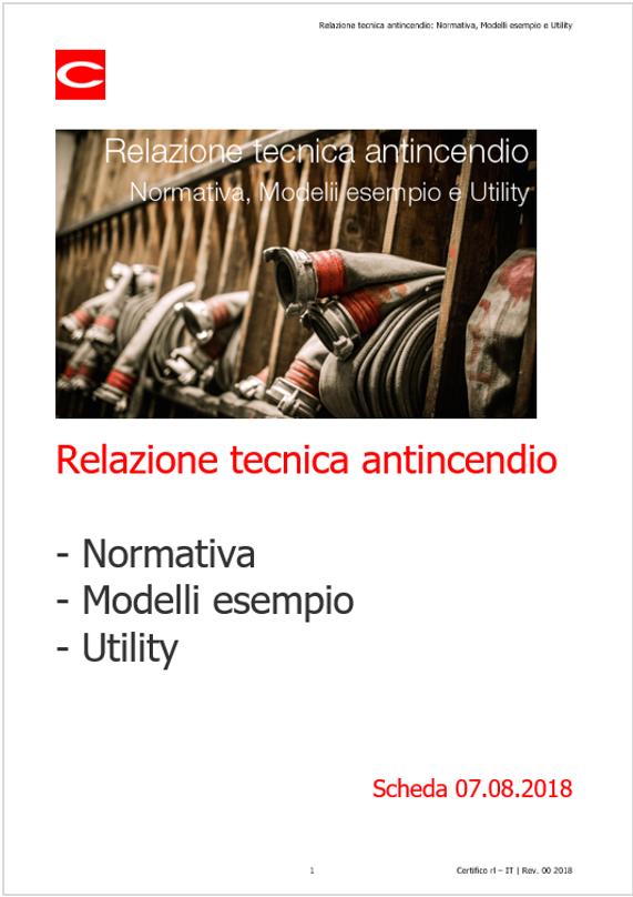 Relazione Tecnica Antincendio Normativa Modelli Esempio E Utility Certifico Srl