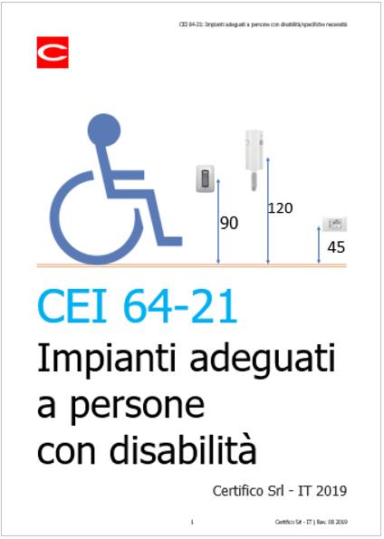 Cei 64 21 Impianti Adeguati A Persone Con Disabilità