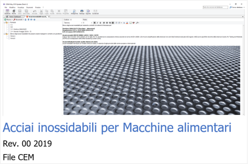 File CEM acciai inossidabili 2019 Rev 00
