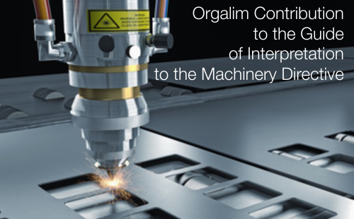 Orgalim Contribution to the Guide of Interpretation to the Machinery Directive