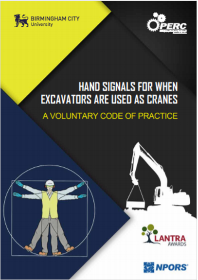 Hand signals for when excavators are used as cranes