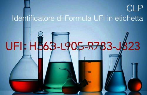Identificatore di Formula UFI in etichetta