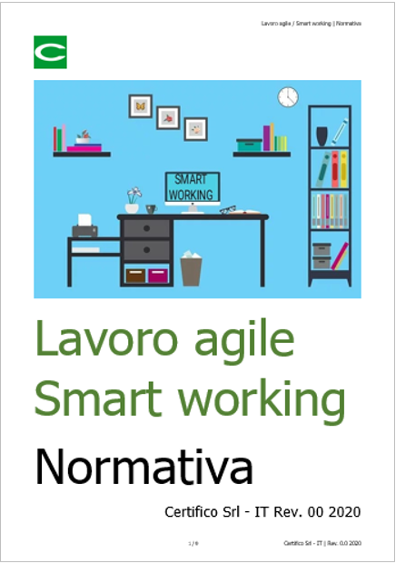 Lavoro agile Smart working   Normativa