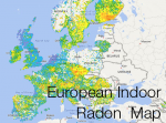 European Indoor Radon Map reports